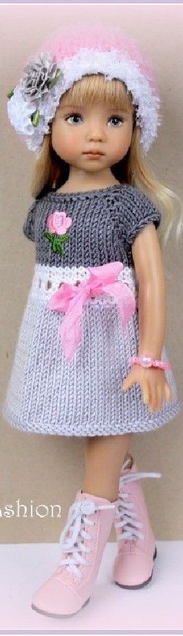 Effner, delicate sweater dress, hat and boots