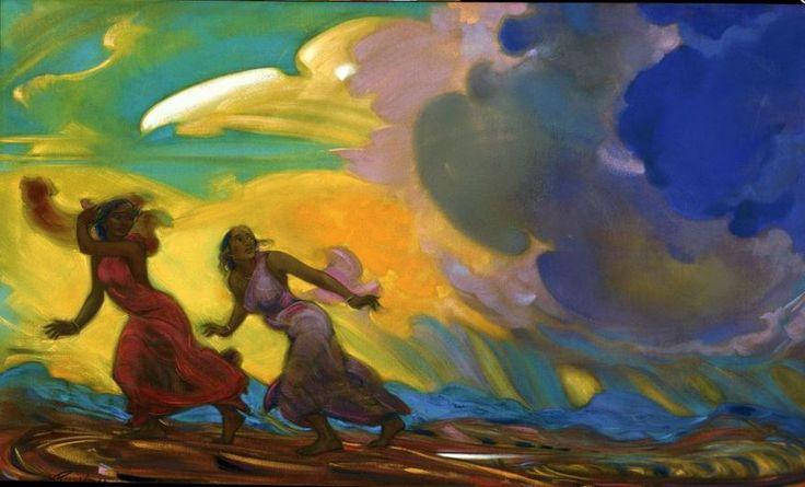 Святослав Рерих. Духовное искусство. Спасаясь от бури Svetoslav Roerich