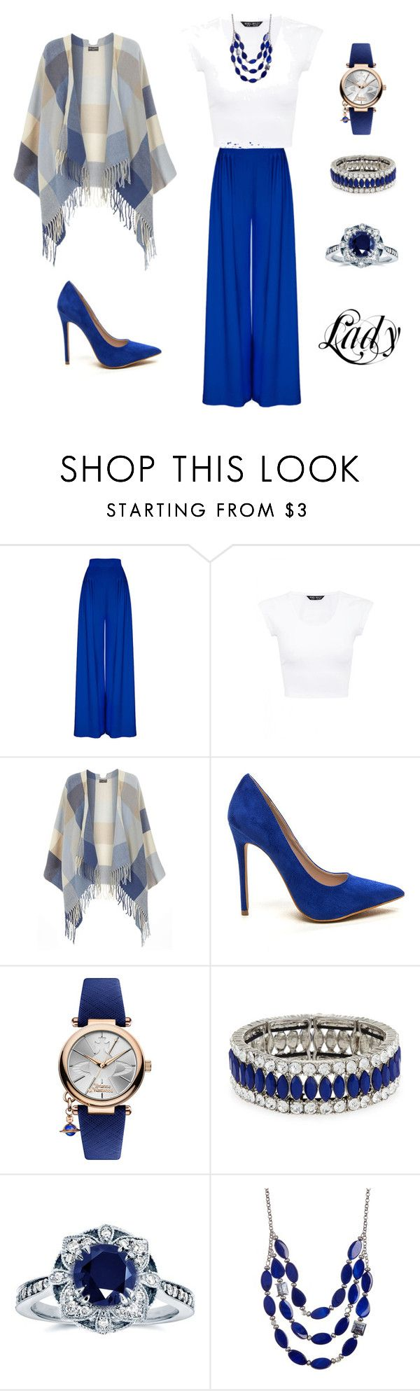 """""""Lady personality styling for rectangle body shape"""" by monicazelin on Polyvore featuring Dorothy Perkins, Vivienne Westwood, Kenneth Jay Lane, Kobelli and Kenneth Cole"""