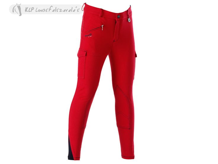 Tattini Kids Breeches With Cargo Pocket - Light and stretchy knitted cotton (95% cotton and 5% spandex), 280 gr. Tight fitting with cargo pockets both sides and jeans cut on the back. Contrasting stitching. Lycra insert at the ankle.  Available from March 2014