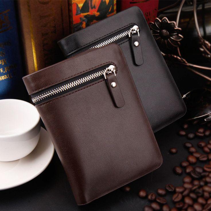 2017 New Arrival Men Zipper Purse Bifold Wallet PU Leather Wallets Clutch Money Purse ID Card Holder  LXX9