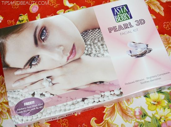 Astaberry Pearl Facial kit Review and How to use this kit