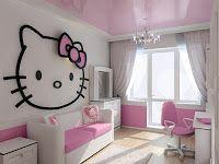 DORMITORIOS HELLO KITTY BEDROOMS : Dormitorios: Fotos de dormitorios Imágenes de habitaciones y recámaras, Diseño y Decoración