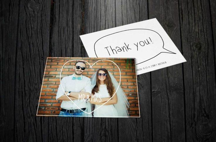 Photo #Hipster #Wedding Thank You #Invite Invitation For the #love of stationery www.fortheloveofstationery.com