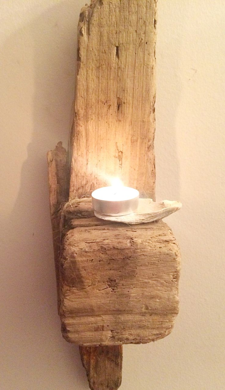 Driftwood Sconce, Driftwood Wall Sconce, Wall Sconce, Wooden Sconce, Rustic Decor, Driftwood Shelf, Chunky Shelf by DaisysDriftwood on Etsy https://www.etsy.com/uk/listing/498035611/driftwood-sconce-driftwood-wall-sconce