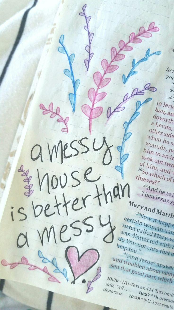 Luke 10:38-42 ~ Bible Art Journaling ~ Mary and Martha
