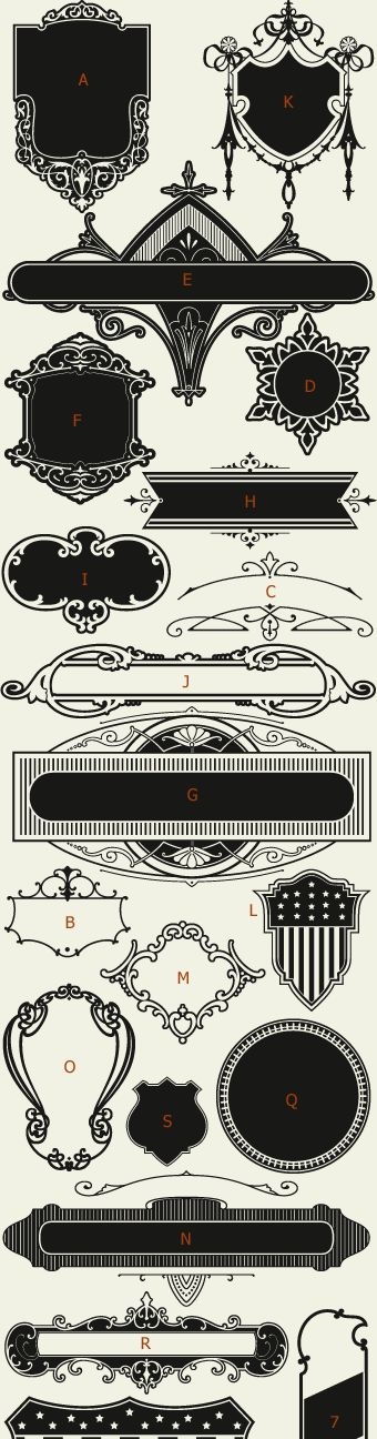Letterhead Fonts / LHF Centennial Panels 3 / Decorative Panels NOT FREE