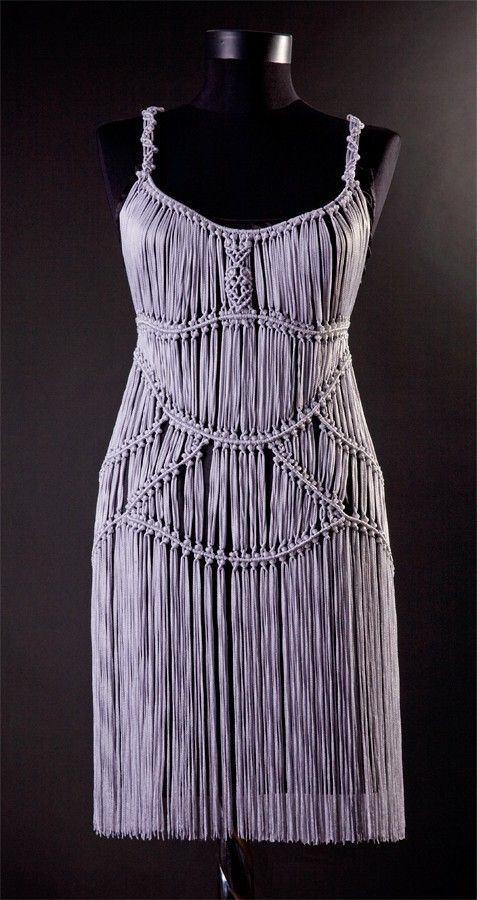 Dancing Queen Macrame knitted dress by uniquastudio on Etsy, $248.00