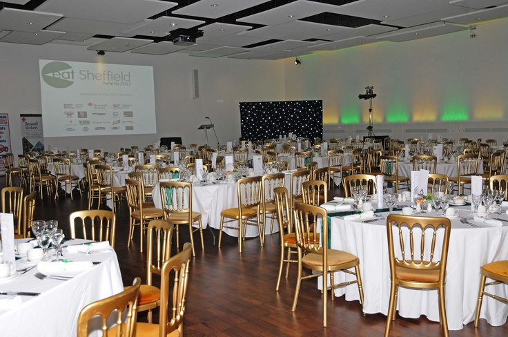 Hallam Hall, Sheffield Hallam University, ready & waiting for the Eat Sheffield Awards
