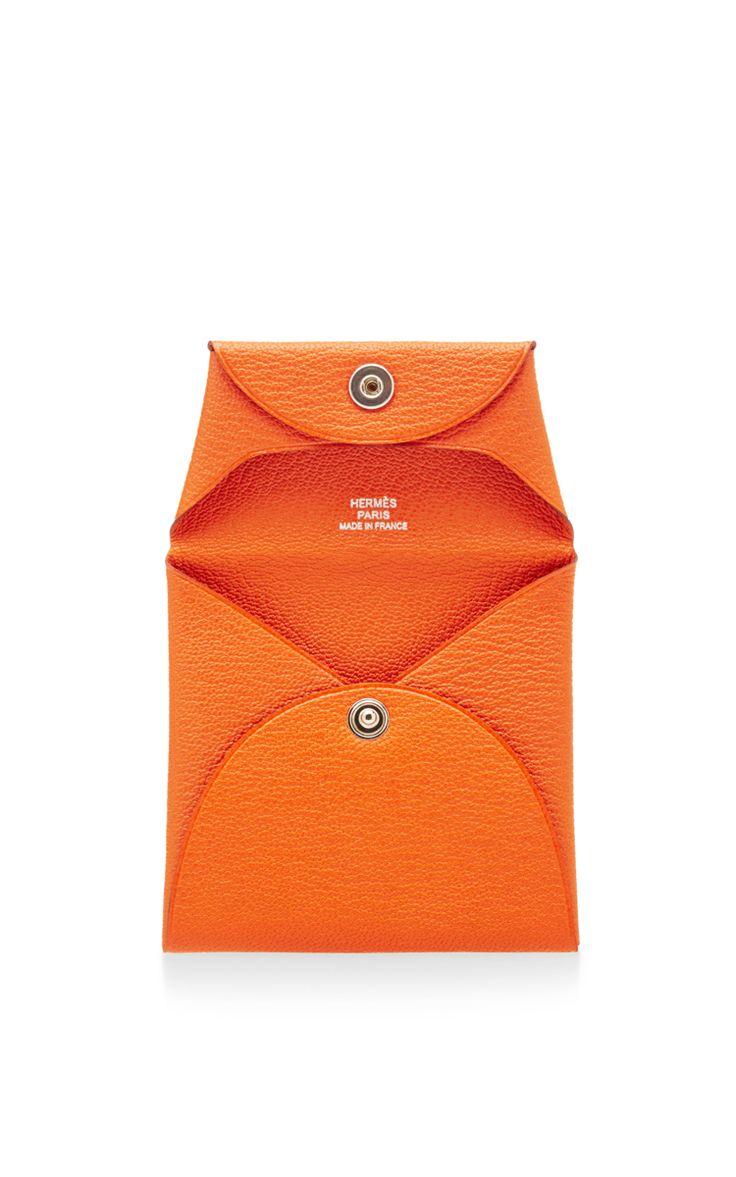 Hermes Orange Mysore Bastia Coin Purse by What Goes Around Comes Around for Preorder on Moda Operandi