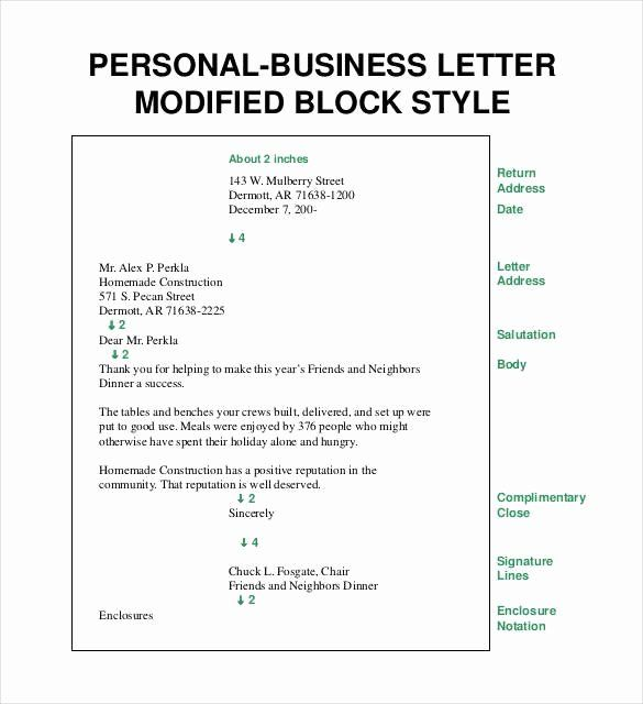 Open Office Business Letter Template Best Of Personal Business Letter Format Block Style Business Letter Template Business Letter Format Formal Business Letter