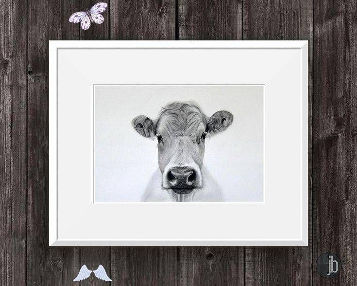 Cow Wall Art Print Cow Decor Black White Print Pencil Drawing Farm Animal Bovine Art Cow Wall Art Print Cow Decor Black White Print Pencil Etsy Br I 2020