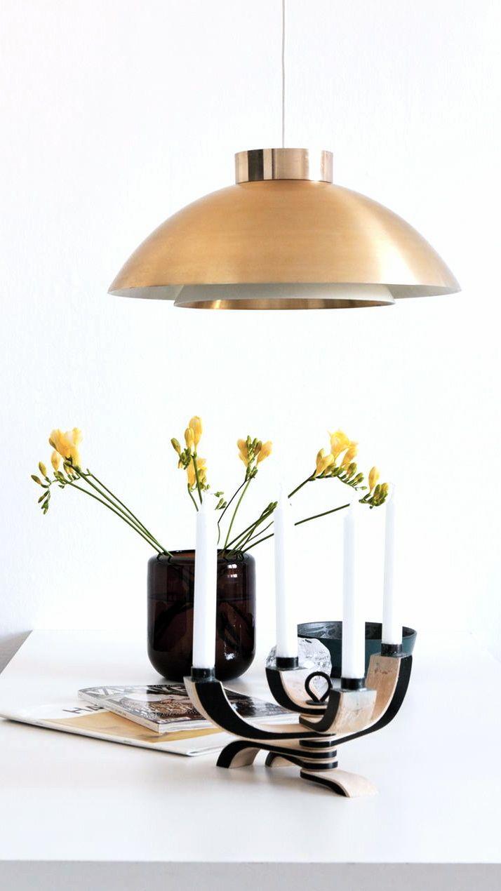 Nordic Light foldable candelabra, designed by Jonas Grundell for Design House Stockholm. Via NordicDays.nl