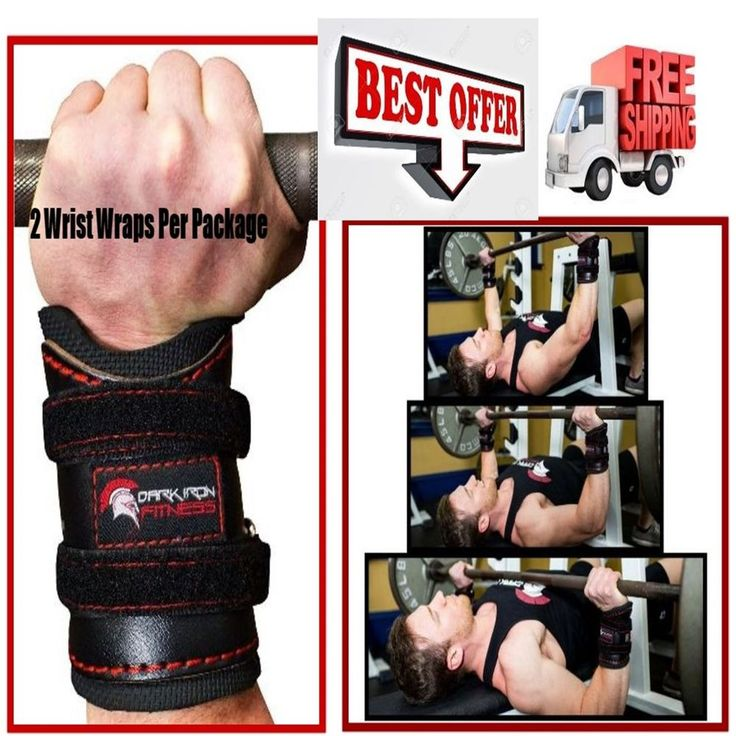 Leather Weight Lifting Wrist Wraps Support Heavy Duty Padded Braces Velcro Loop #DarkIronFitness