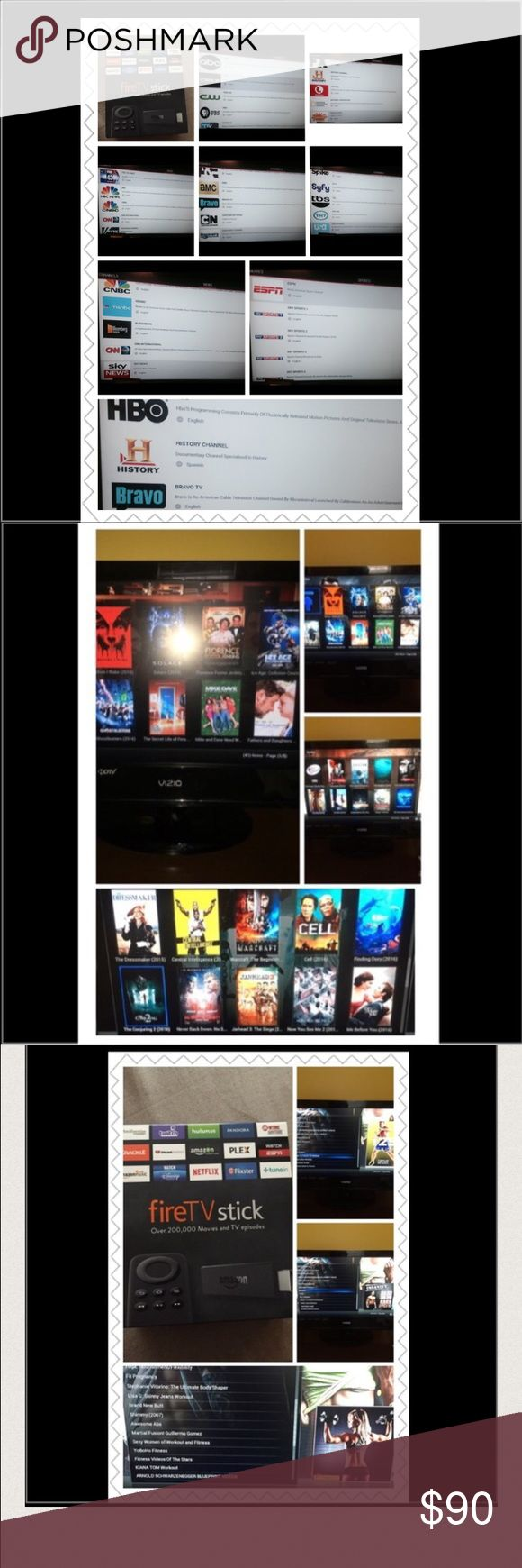 Amazon Fire stick unlocked with KODI Jarvis 16.1 HDMI port on your TV and WIFI are required.  16.1 Jarvis Automatically Updates. Stream LIVE TV with NO MONTHLY BILL & Pay Per View Movies, Theatre Movies, NBA, NFL, NHL Games, UFC fights, Boxing, WWE, Soccer Games, Nascar racing, Tennis, Baseball, etc. 200+ US Channels; 200+ Spanish Channels; Live Sports; Live News; Live International TV; On-Demand Movies/TV Shows; Adult Content; Workout Videos; Pay Per View Events; Music; and Games. Adult…