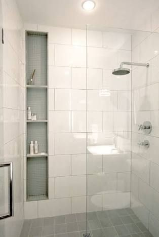 Image result for large white wall tiles bathroom #tilebathrooms