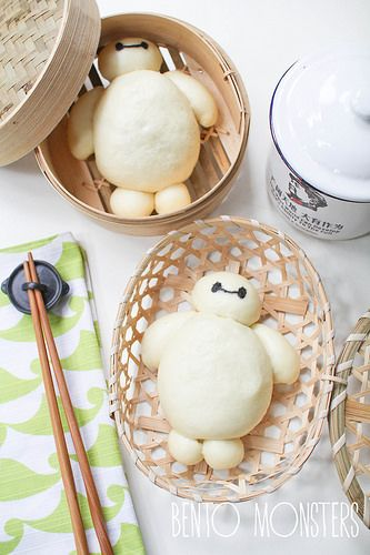 Baymax Big Hero 6 Steamed Pork Buns - step by step recipe