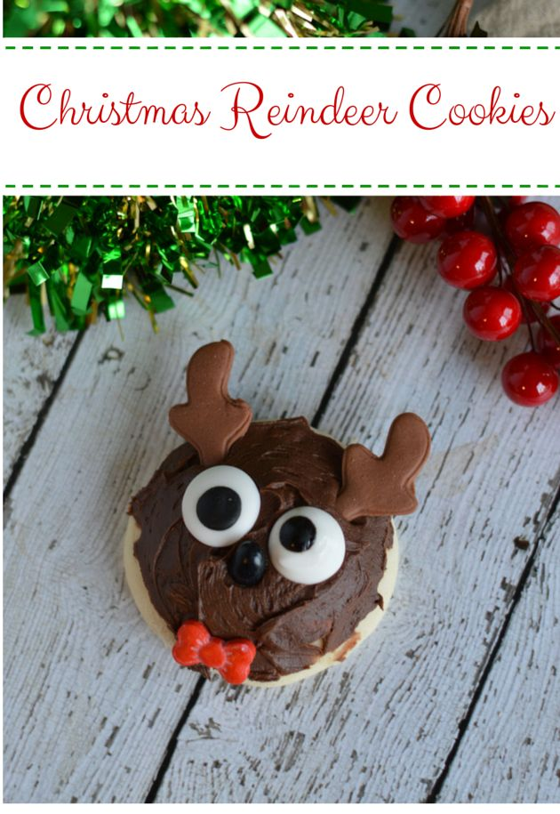 Christmas Reindeer Cookies.  Christmas Cookies.  Perfect for Santa's Cookies