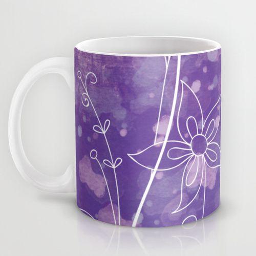 Midnight Spring Mug by Jollybird Designs   Society6 #midnight #spring #mug