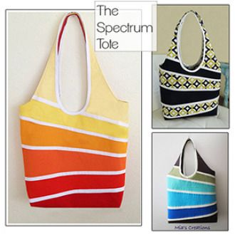 The Spectrum Tote   Sewing Pattern   YouCanMakeThis.com