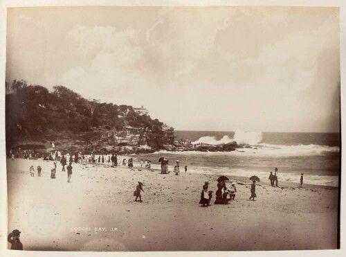 Coogee Beach, Sydney in 1888. .v@e.