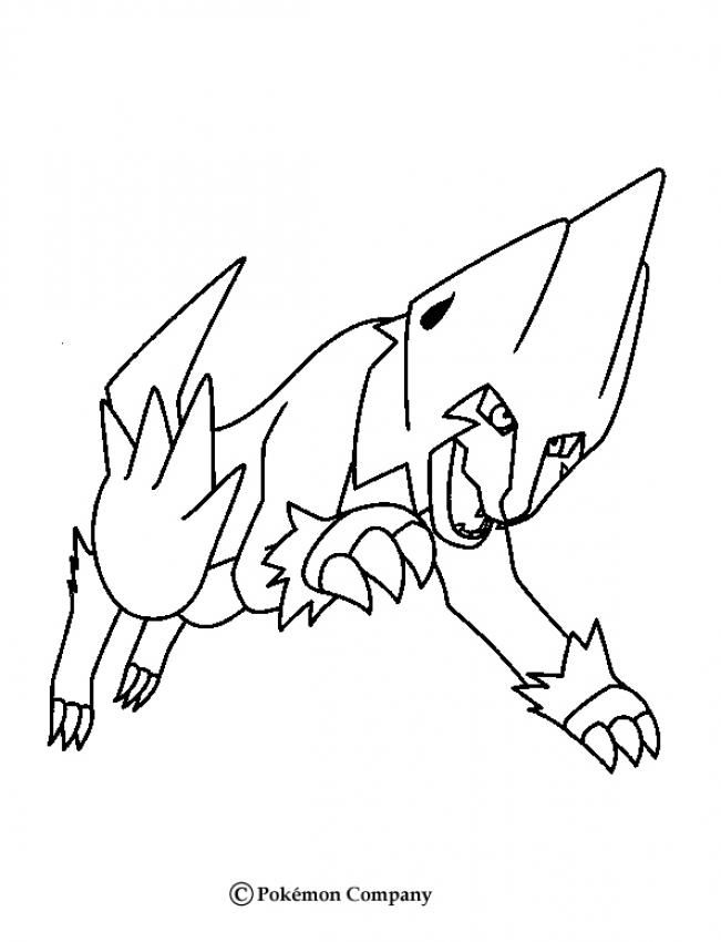 manectric pokemon coloring page  more electric pokemon