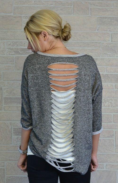 DIY sweatshirt idea