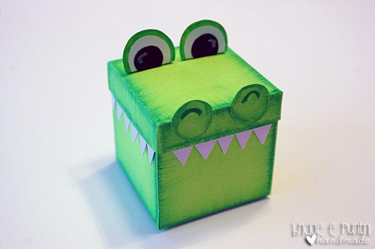 Tutorial: scatola di cartoncino a forma di coccodrillo