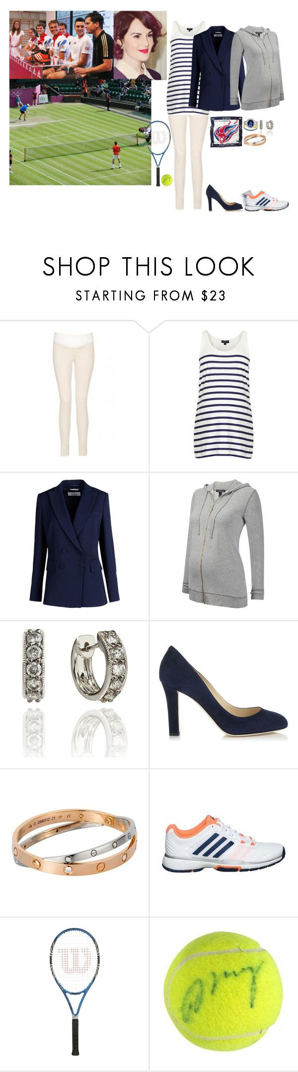 """""""Surprising the Team GB Tennis Players At The London Olympic Park & Participating In Practice + Receiving A Signed Tennis Ball From Andrew Murray"""" by madeleine-duchessofcam ❤ liked on Polyvore featuring J Brand, Topshop, Sportmax, adidas, Jimmy Choo and Cartier"""