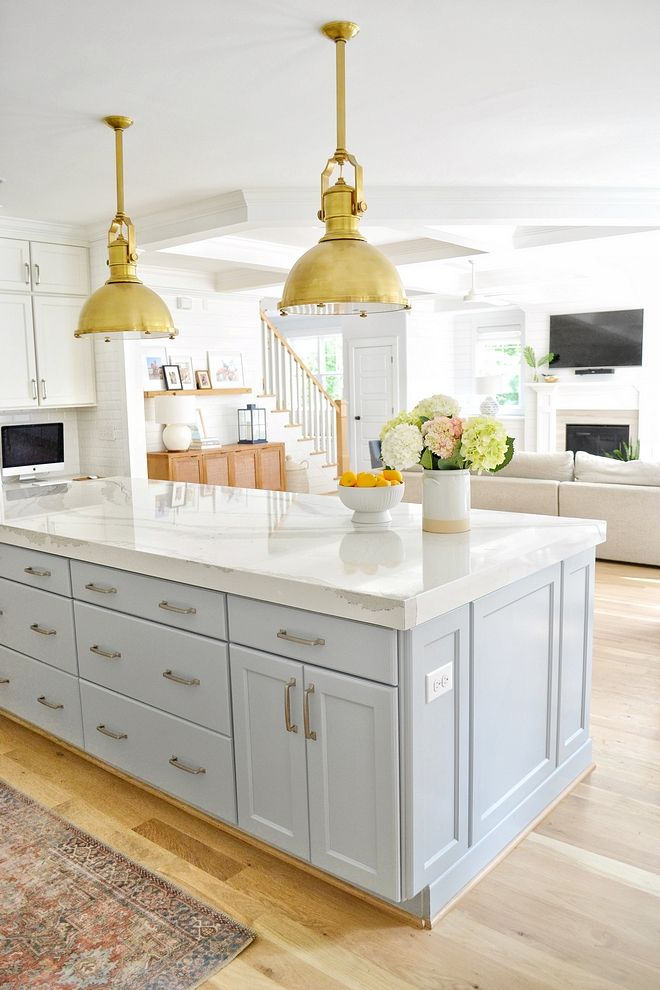 Quartz With A 3 Mitered Edge Kitchen Island Countertop Is Cambria