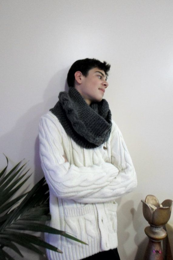Check out this item in my Etsy shop https://www.etsy.com/listing/214108682/knitted-mens-infinity-scarf-cable-scarf