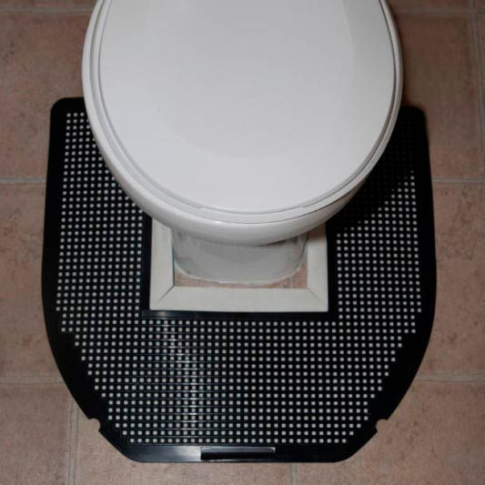 Disposable Toilet Mat Gets Rid of Tough Urine Spills, Odors & Spots