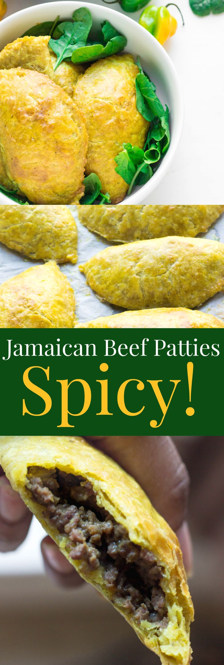 Spicy Jamaican Beef Patties with perfect butter flaky crust!