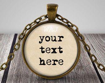 CUSTOM text custom quote custom key chain word jewelry quote jewelry custom jewelry custom necklace custom word jewelry personalized jewelry