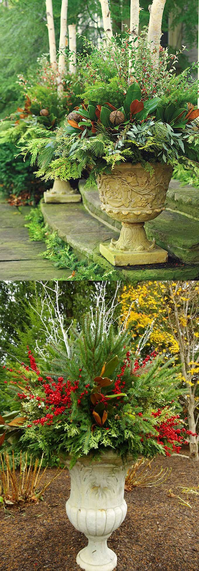 Best 25+ Christmas urns ideas only on Pinterest | Outdoor ...