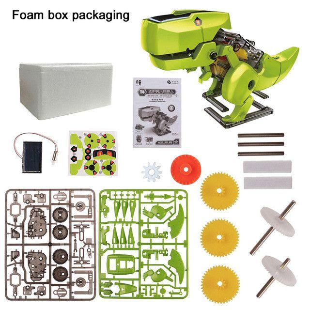 *New 4 In 1 Solar Toys Educational Robot Kit