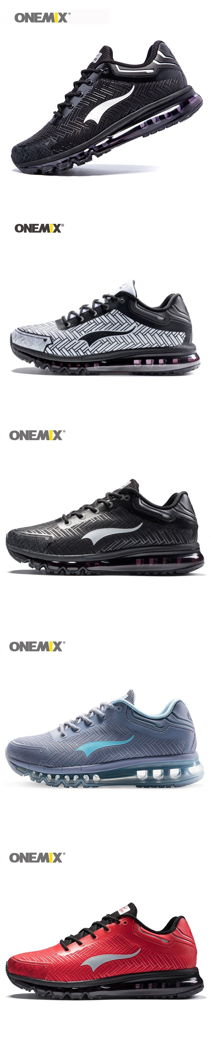 Onemix men's running shoes light jogging shoes outdoor walking shoes good sports sneakers black adult athletic trekking sneakers