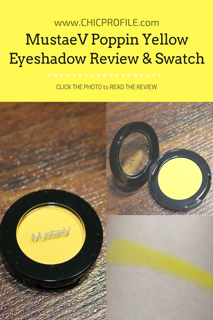MustaeV Poppin Yellow ($13.00 for 1.8 g / 0.06 oz) is officially described as bright neon yellow with a matte texture that provides a velvety smooth application. Is a medium-bright yellow with warm undertones and a soft matte finish.  via @Chicprofile