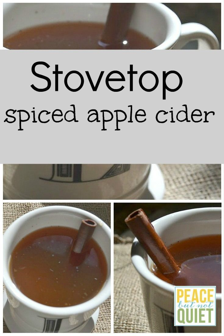 This stovetop apple cider recipe is delicious, and great for fall!