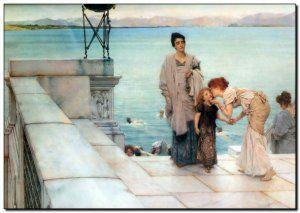 Schilderij Alma-Tadema, Kiss 1891http://www.mypainting.nl/detail/1110325-schilderij-alma-tadema-kiss-1891