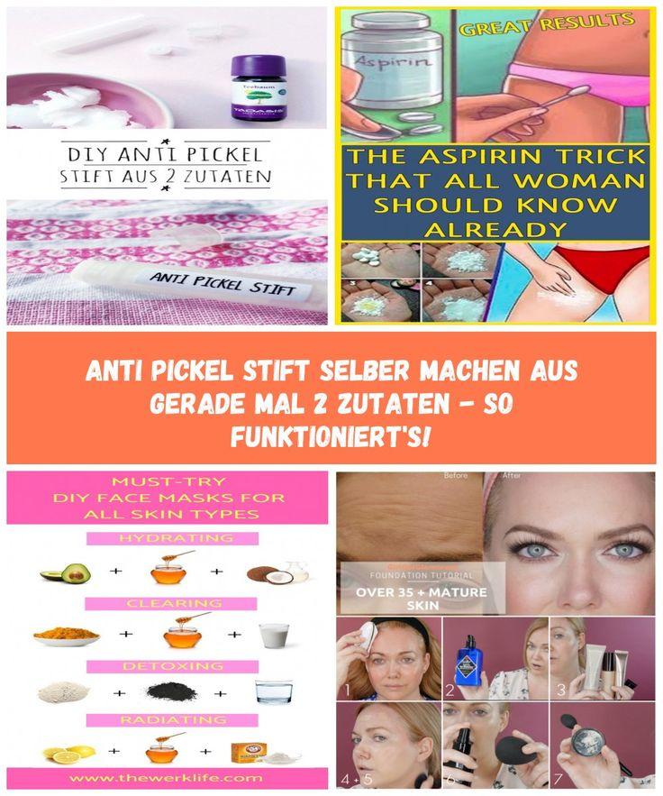 Anti Pickel Stift selber mache Foundation tutorials, Diy