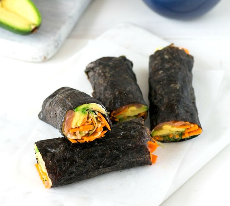 Just ten minutes is all you need to prepare this No-Rice Salmon Avocado Sushi. Kids will love helping you make this hands-on meal.