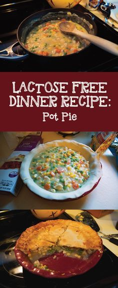 Dairy and lactose free Chicken Pot Pie recipe. Easy enough to make on a weeknight!