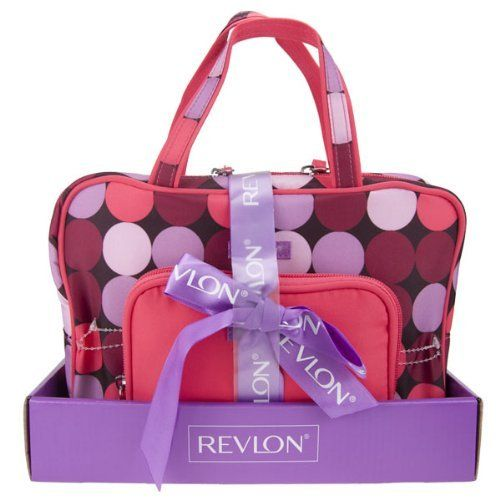 Revlon 2 Piece Tote & Weekend Bag Polka Dot Gift Set by Revlon. $23.28. Revlon 2 piece tote & weekend bag gift set.  Tote dimensions approx: 160mm(w) x 125mm(h) x 30mm(d). Bag dimensions approx: 265mm(w) x 175mm(h) x 75mm(d).. Save 40% Off!