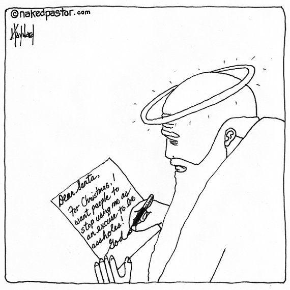 Hey, I found this really awesome Etsy listing at https://www.etsy.com/listing/258203911/god-writes-to-santa-cartoon