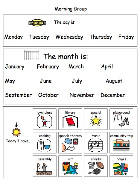 Calendar Time worksheet - laminate and use a dry erase marker!