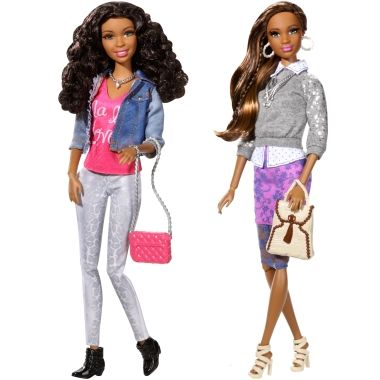 African American Barbie Style Doll Gift Set - - Mattel Shop Exclusive Toy