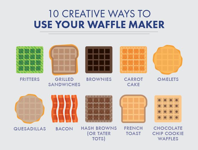 There are a lot more things to make with your waffle maker than just plain ol' waffles. Here are 10 to get you started.