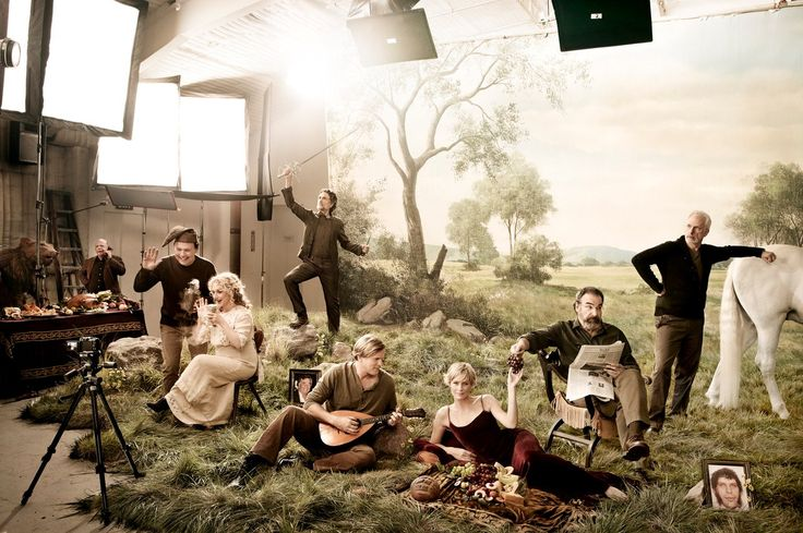 The cast the The Princess Bride, 25 years later. I love that they have a photo of Andre in there!