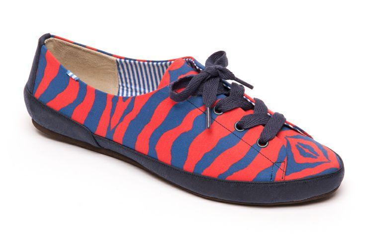 Bianca Red & blue Zebra